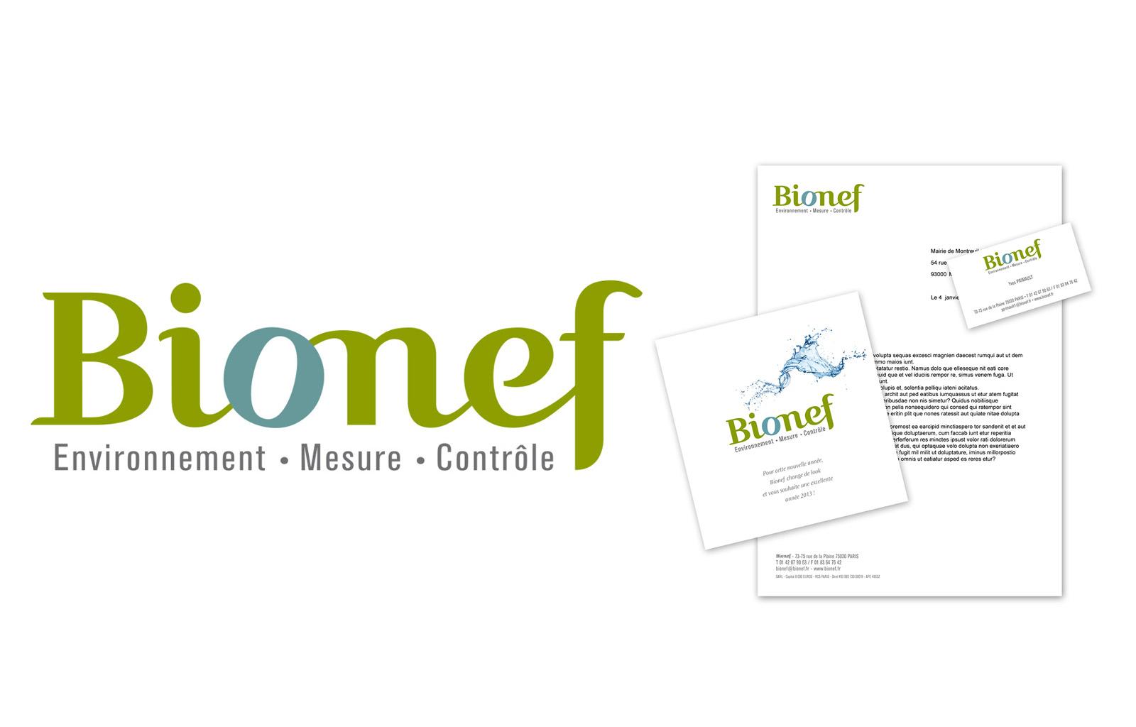BIONEF > Conception logo et papeterie