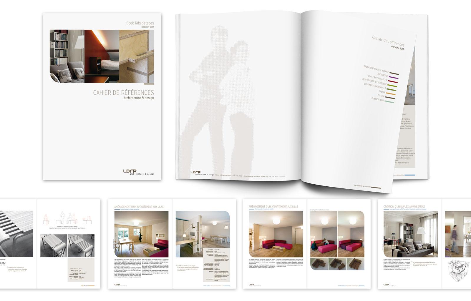 LDRP > Conception réalisation du cahier de référence, book agence et papeterie