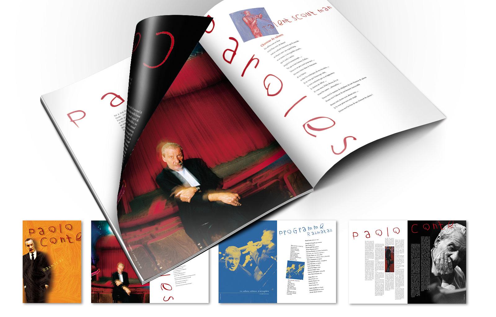 Les VISITEURS du SOIRS > Conception réalisation du programme de concert pour Paolo Conté