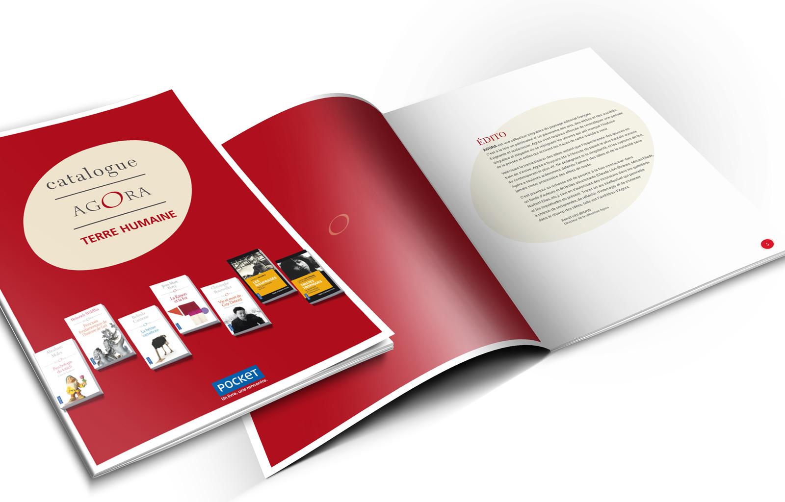 POCKET - Conception/réalisation du Catalogue pour Agora & Terre Humaine