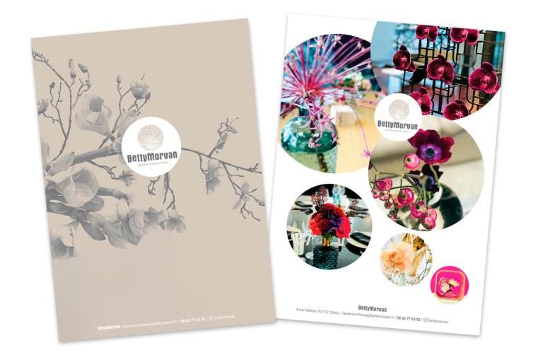 Conception du logo pour la société de design floral BettyMorvan