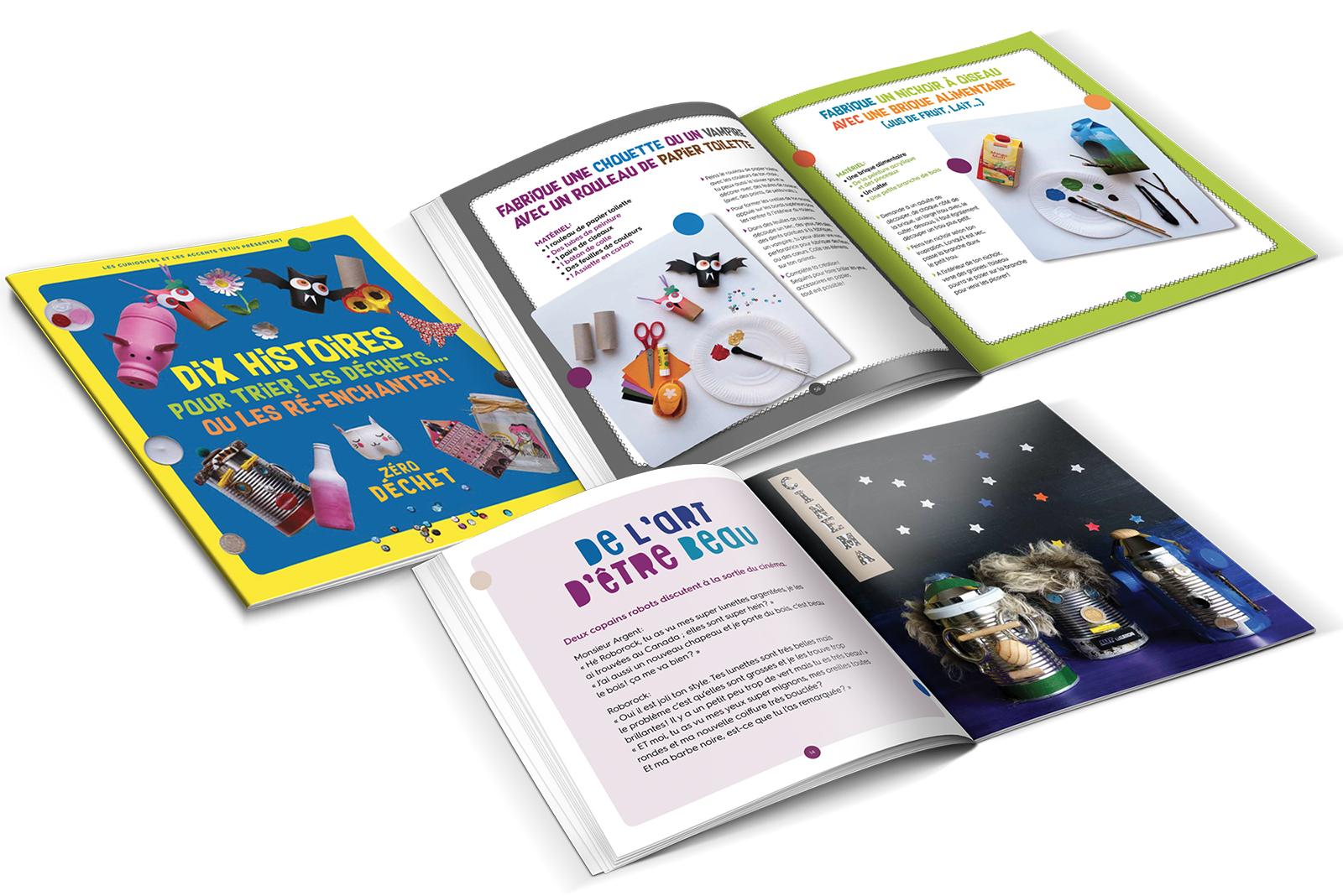 Les CURIOSITES / EST ENSEMBLE > Conception/réalisation du livre pratique jeunesse
